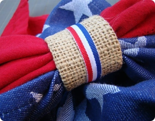 fourth of july napkin rings