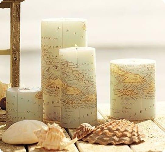 map pillar candle