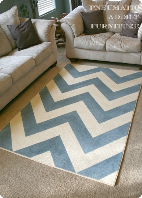 painted chevron rug