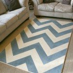 Painted Chevron Rug with Perfect Zig Zags