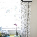 Pretty Painted Pattern Curtains