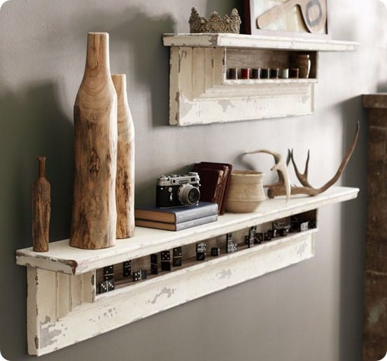 pottery barn dentil molding shelf