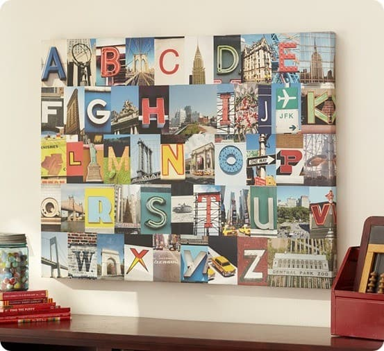 pottery barn kids alphabet artwork