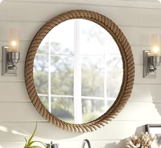 rope mirror from pottery barn
