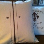 stenciled pillows