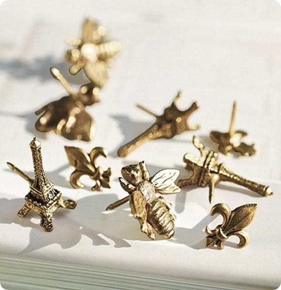 Faux Antique Brass Decorative Thumbtacks