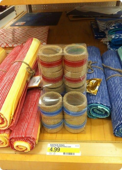 target napkin rings