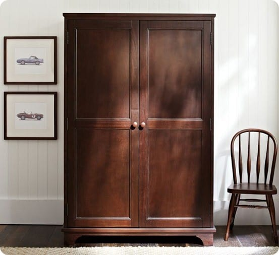 The original inspiration came from the Toy Armoire from Pottery Barn ...