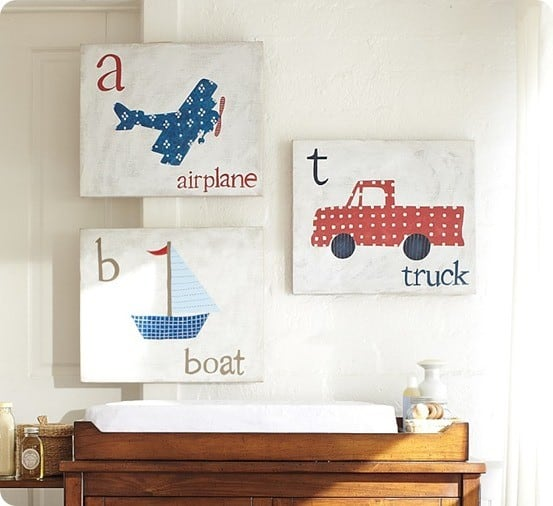 transportation art from pottery barn kids
