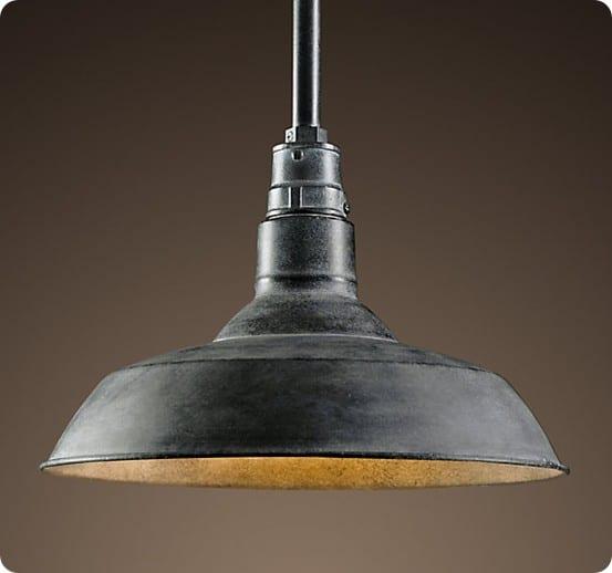 vintage barn pendant