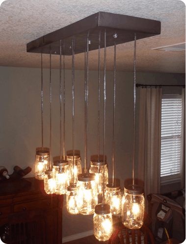 Best Of Pb 7 Made From Scratch Mason Jar Chandelier