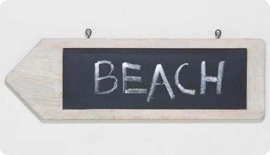 chalkboard destination sign