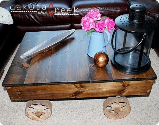 diy factory cart table