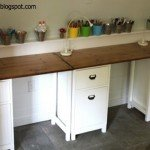 Kids' Work Area with Schoolhouse Desks