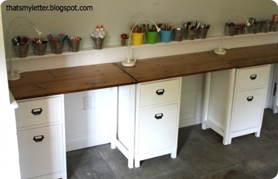 diy schoolhouse desks