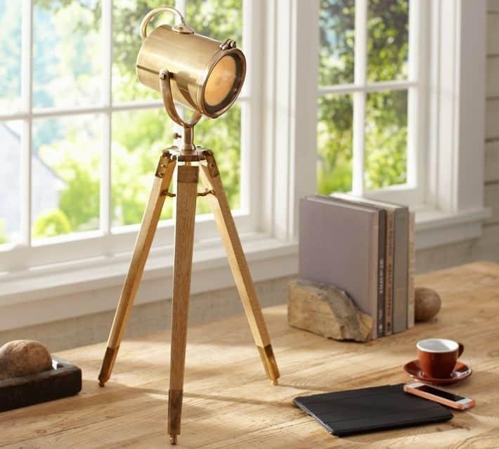 Cool  Table Lamp from Pottery Barn douglas spotlight tripod lamp