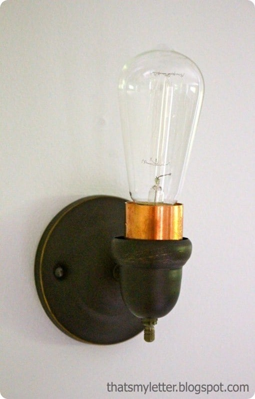 Edison Bulb Sconce For A Vintage Home