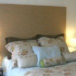 Roll-Up Shade Repurposed into a Headboard
