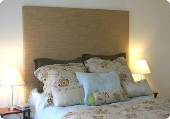 Roll Up Shade Repurposed Into A Headboard Knockoffdecor Com