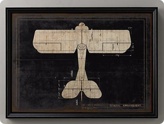 model g airplane blueprint