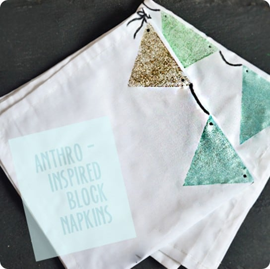 painted fabric napkins