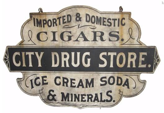vintage drug store sign