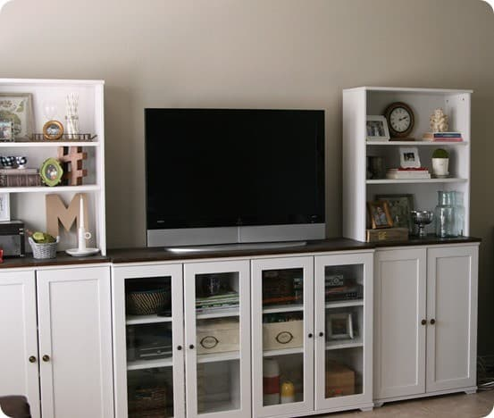 Entertainment Center With Hidden Storage