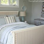 Wood and Fabric Upholstered Bed