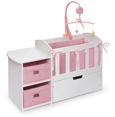 Doll Crib with Changing Table