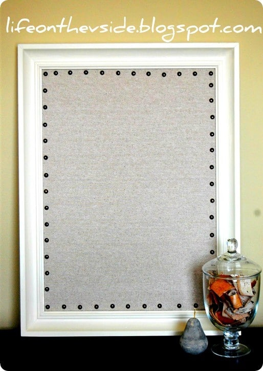 Nailhead Trim Cork Board Bulletin Board