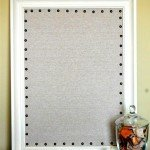 Linen Message Board with Nailhead Trim