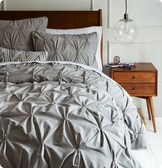Pintuck Duvet Covers from West Elm