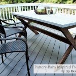 "DIY ""X"" Picnic Table for a Deck Makeover"
