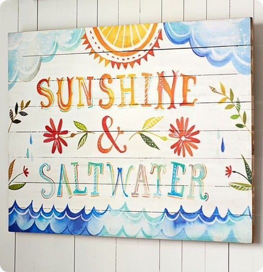 Sunshine Saltwater Watercolor Art