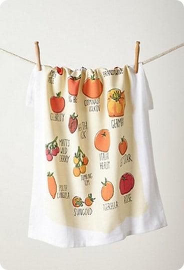 Tomato Garden Dish Towel