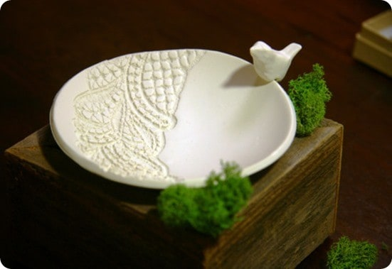 Lace Pressed Jewelry Dish