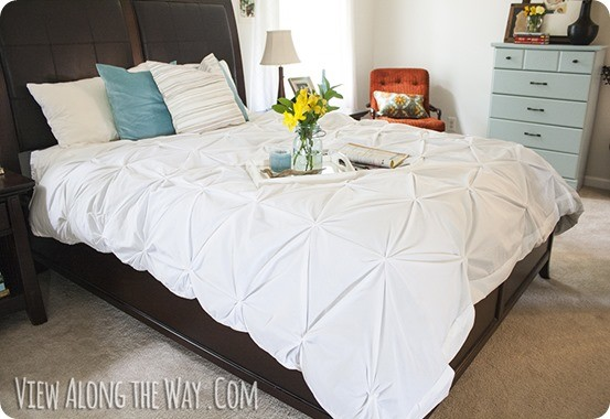 diy pintuck duvet