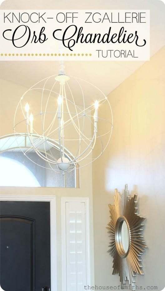 diy white orb chandelier