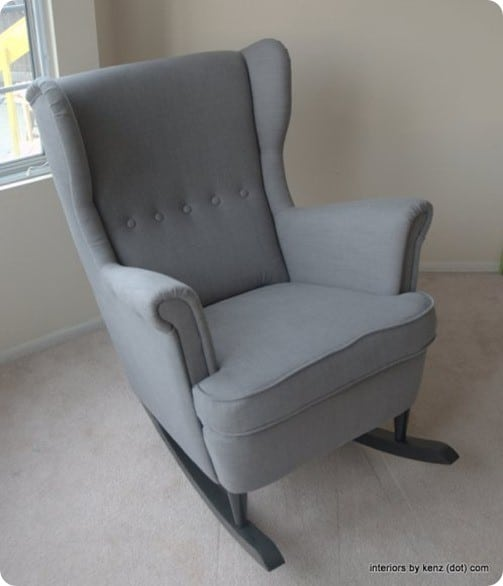 diy wingback rocking chair