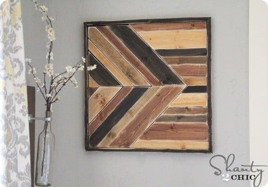 Geometric Pieced Wood Wall Art