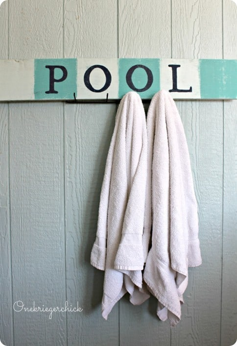 handpainted pool sign