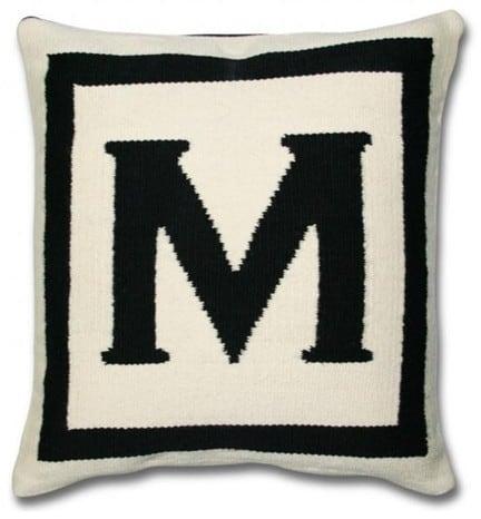 jonathan adler reversible letter pillow