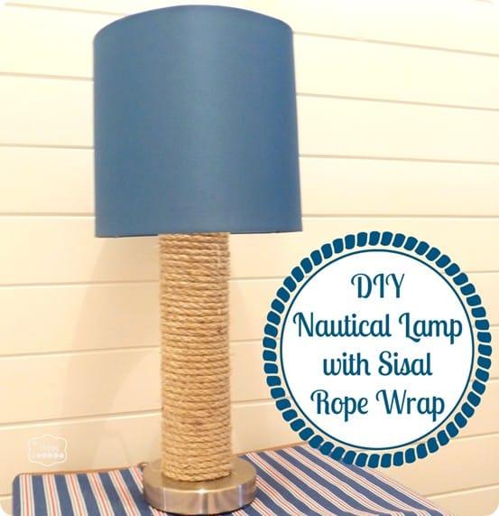 nautical rope lamp
