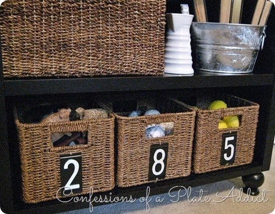 numbered baskets