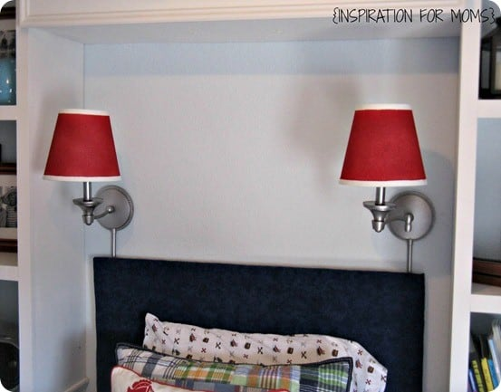 painted sconces and shades