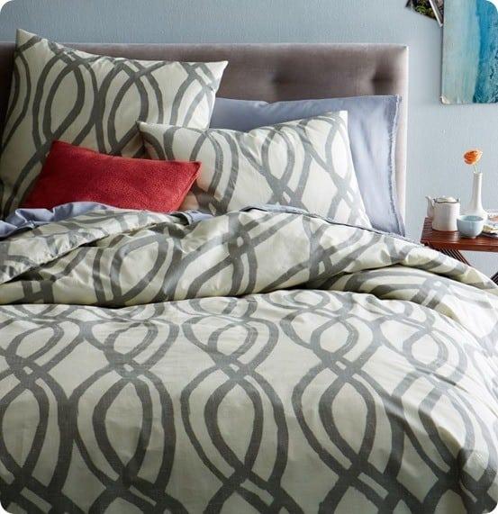 painted swirl duvet cover