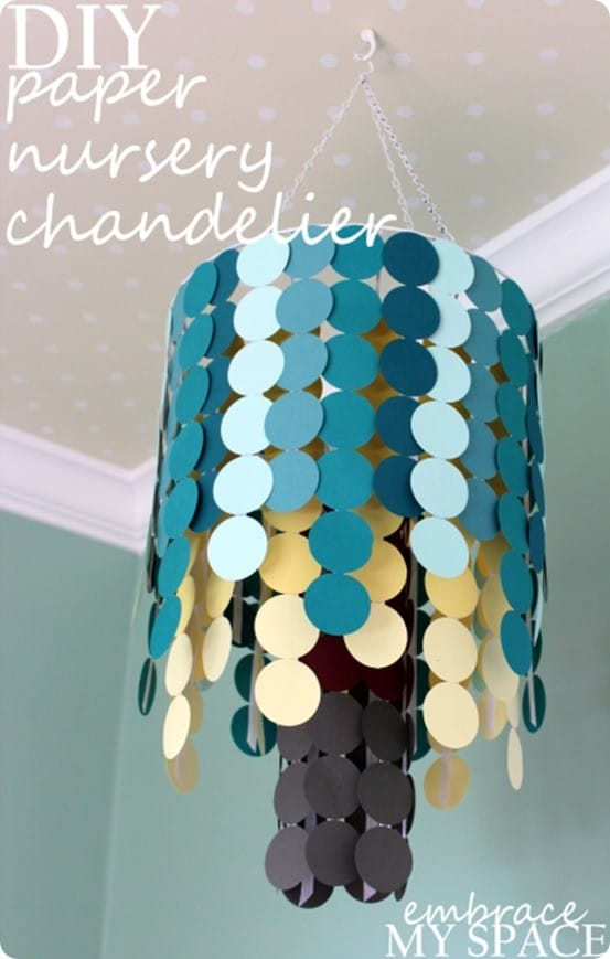 paper chandeliers 22 genius diy chandelier ideas for decorating on a 100 layer cake created this gorgeously fun chandelier using gold foil paper get stylecaster in your inbox.