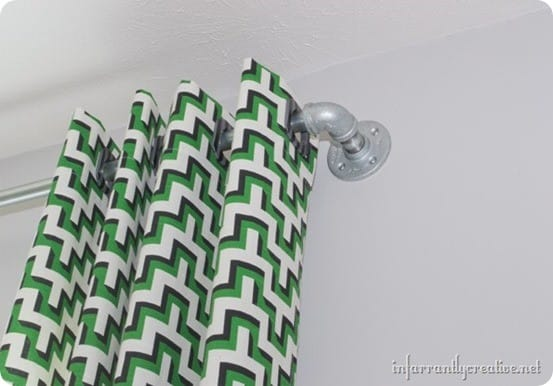 pipe curtain rod