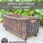 Rolling Storage Basket for Less