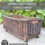 Rolling Storage Basket for Less
